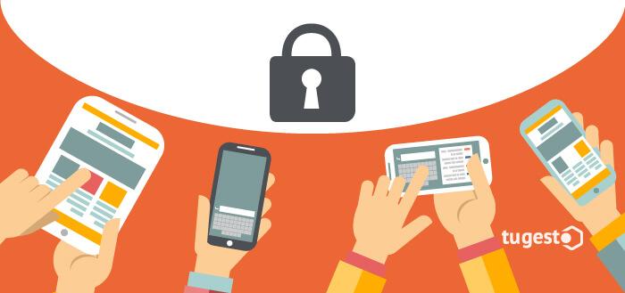 Uso de las aplicaciones a través de los dispositivos móviles.