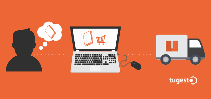 Usuario de Amazon haciendo una compra online.