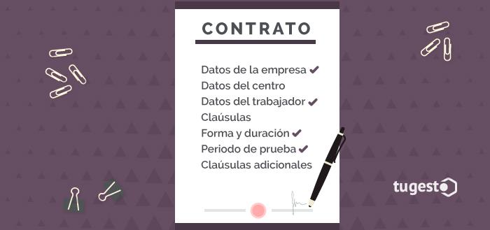 Datos que debe contener un contrato de trabajo