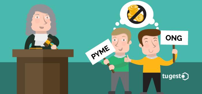 ONGs y Pymes durante un juicio pensando en no pagar las tasas judiciales.