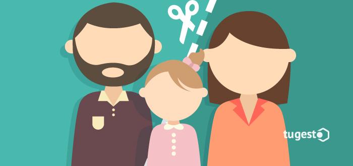 Padre, madre e hija separados por la custodia.