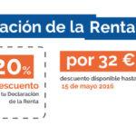 Haz la Declaración de la Renta por 32€ + IVA