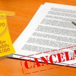 Rectificación y cancelación de datos personales