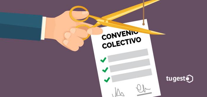 Empresario que toma las medidas oportunas para descolgarse de su convenio colectivo y cambiar las condiciones laborales de sus trabajadores.