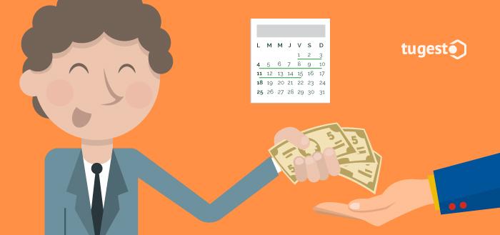 Persona pagando sus impuestos para evitar embargos de Hacienda.