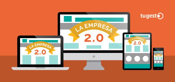 Empresa 2.0 con una pagina web responsive.