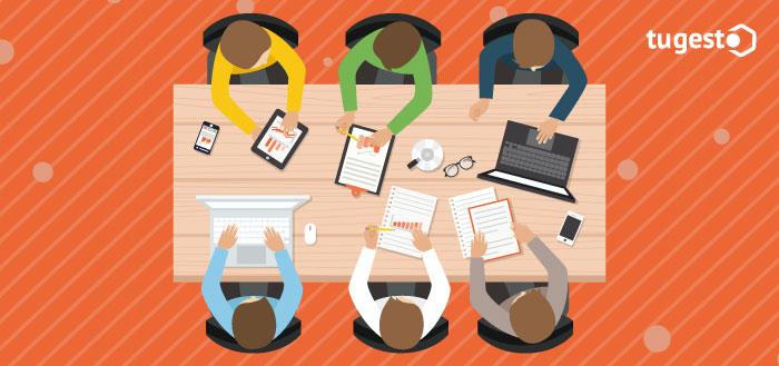 Equipo de trabajadores de una startups tecnológicas