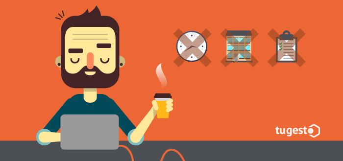 Trabajador disfrutando de reducción de jornada para reducir costes laborales