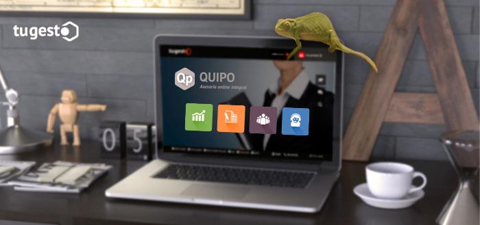 ordenador fondo Escritorio Quipo y un camaleón