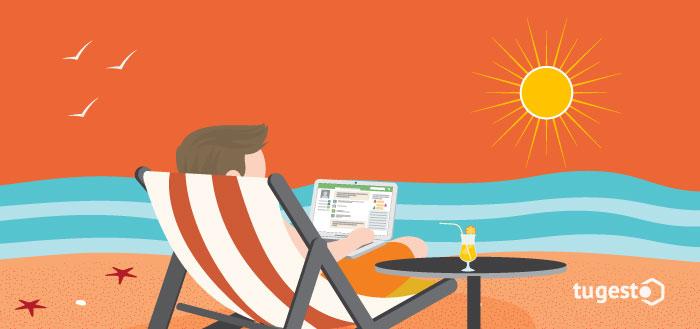 Autónomo gestiona tu negocio en vacaciones
