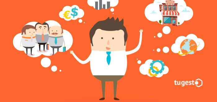 Emprendedor pensando en los factores que debe tener en cuenta antes de comenzar.