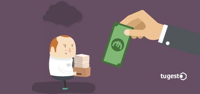 Trabajador despedido recibe la indemnización que le corresponde.