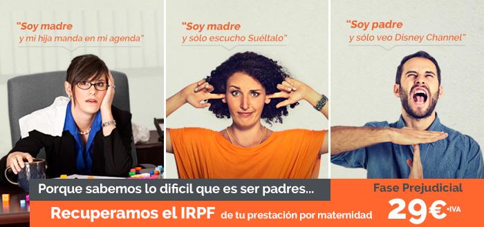 Imagen promocional recupera el IRPF de tu prestación por maternidad