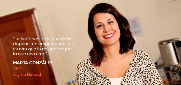 Marta González - CEO de Sigma Biotech