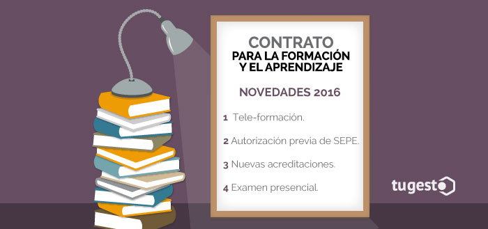 Lista de las novedades en el contrato para la formación y aprendizaje en 2016