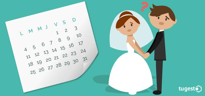 Recién casados preocupados por los días que le corresponden de permiso por matrimonio