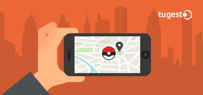 Móvil con el juego Pokemon Go