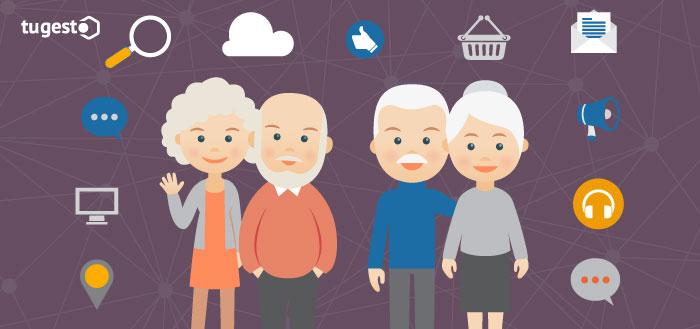 Dos parejas de personas mayores