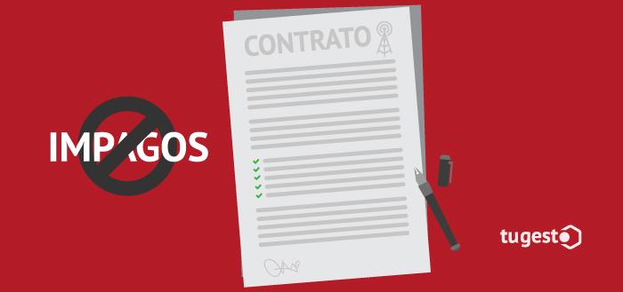 Contrato elaborado correctamente para evitar impagos en las empresas de telecomunicaciones.