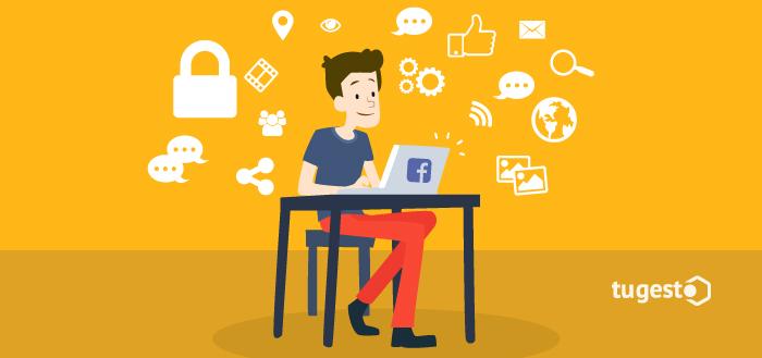 Usuario de Facebook preocupado por la privacidad de sus datos.
