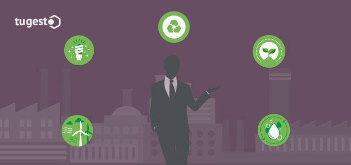 Empresario que cumple con una estrategia de responsabilidad social en su empresa