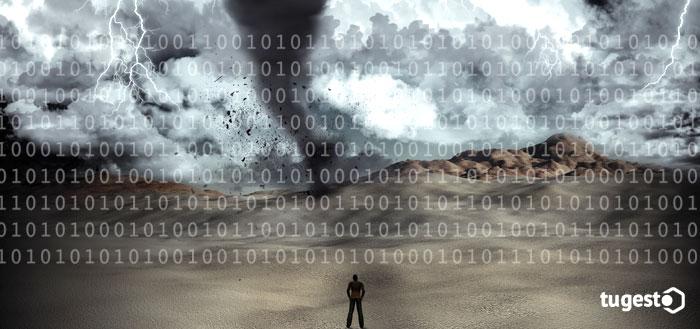 tormenta y código binario