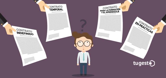 Trabajador dudando sobre qué tipo de contrato le favorece más.