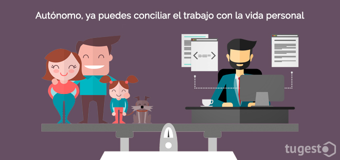 El autónomo puede solicitar una bonificación para conciliar su vida familiar y profesional