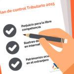 Las 5 acciones del Plan de Control Tributario 2015