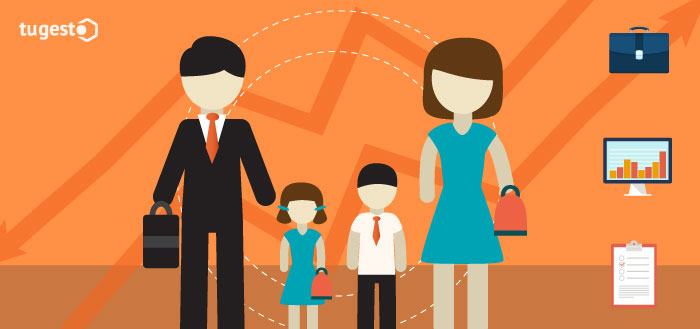 Padres e hijos empresa