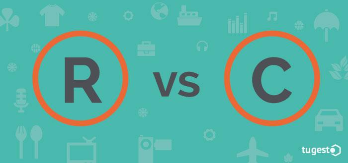 Marca registrada versus derechos de autor o copyright