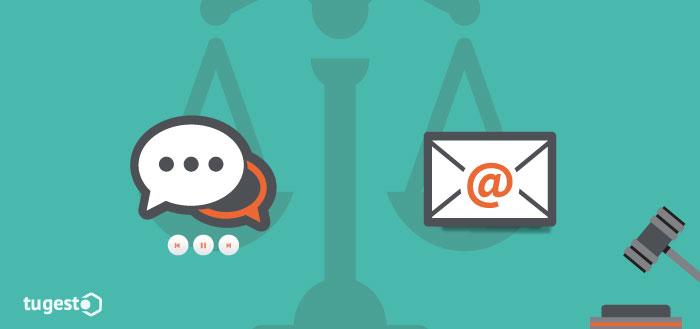 Validez del email en un juicio