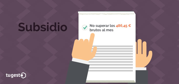 Requisito para solicitar el subsidio