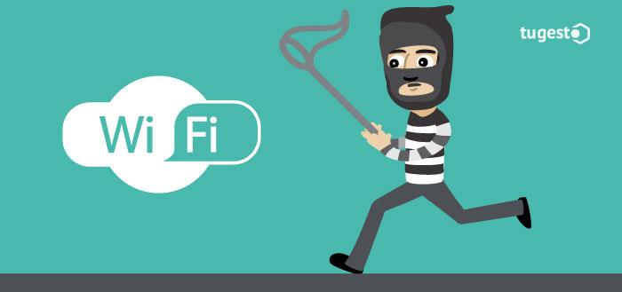 Ladrón robando wifi