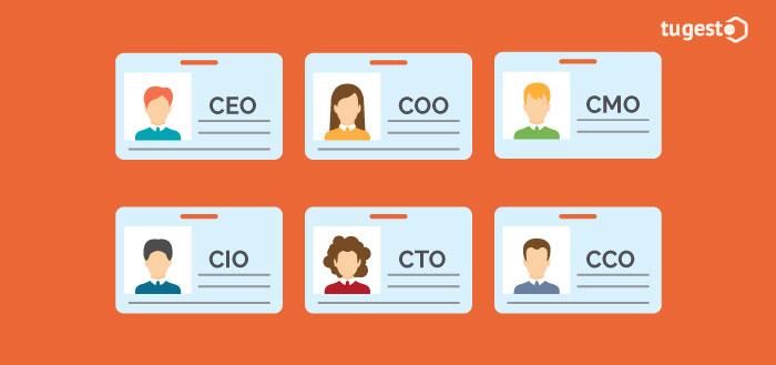 CEO y diferentes puestos de trabajo