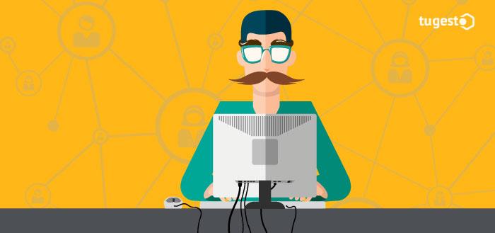 Persona suplantando identidad en Internet