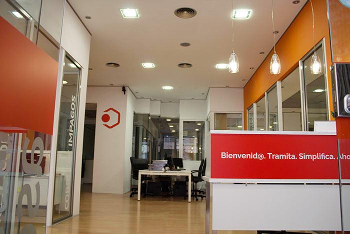 Hall de la oficina de tugesto en Valencia