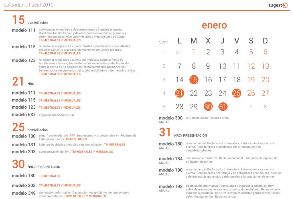 Calendario Fiscal 2019 Autonomos.Calendario Fiscal 2019 El Calendario Del Contribuyente
