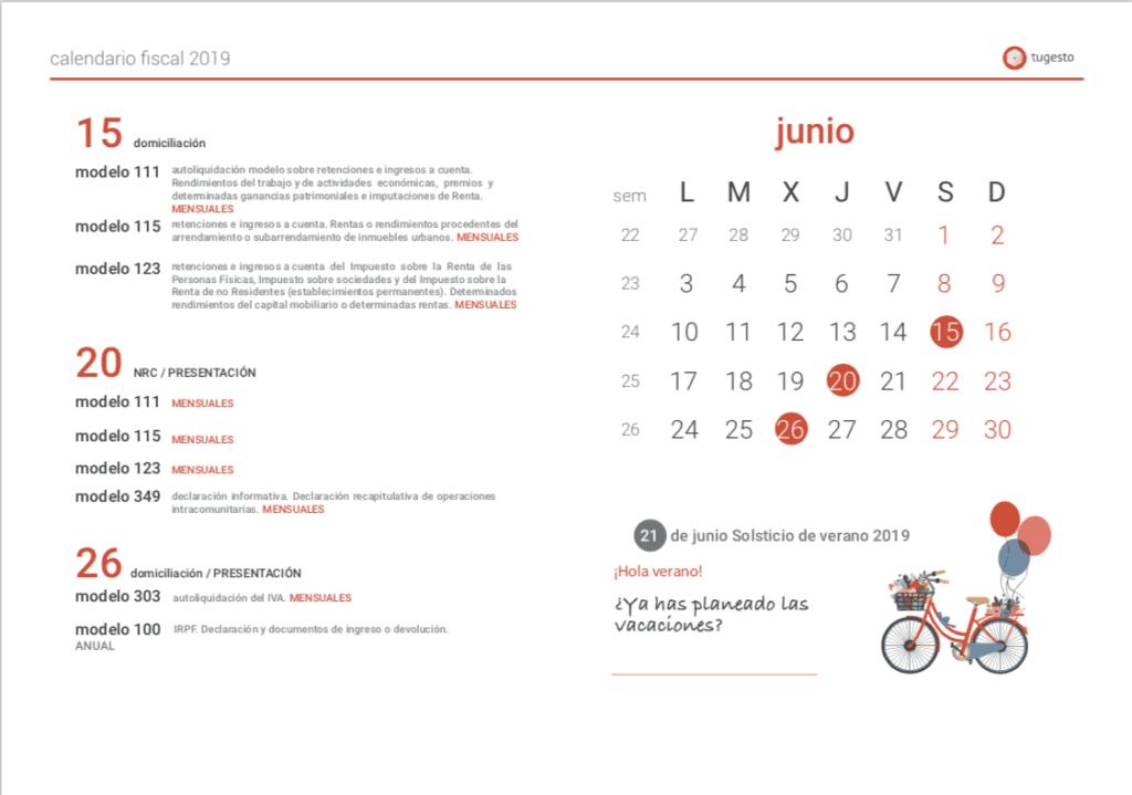 Aeat Calendario Del Contribuyente 2019.Calendario Fiscal 2019 El Calendario Del Contribuyente